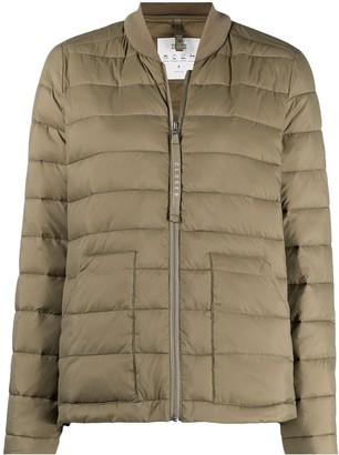 Closed Ribbed Collar Puffer Jacket