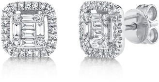 Ron Hami 14K White Gold Diamond Lady's Stud Earrings - 0.43 ctw