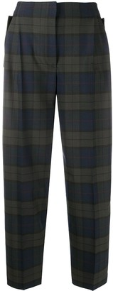 Paul Smith Check Print Tapered Trousers