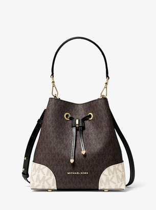 MICHAEL Michael Kors Mercer Gallery Small Color-Block Logo Shoulder Bag
