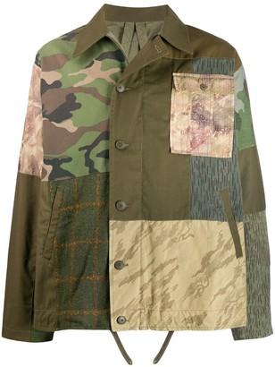 MHI Patchwork Shirt Jacket