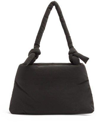 Kassl Editions Lady Pop Oil Knotted-strap Padded Shoulder Bag - Black
