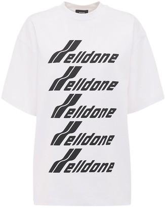 we11done Logo Cotton Jersey T-shirt