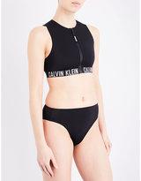 Calvin Klein Intense Power cropped rash top