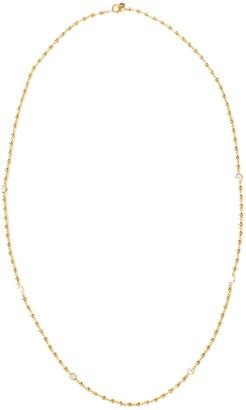 BUDDHA MAMA 20kt Yellow Gold Diamond Ball Chain Necklace