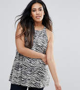 AX Paris Plus Zebra Sequin Swing Top