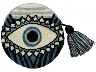 Mama Tierra Evil Eye Round Blue Clutch S GOTS