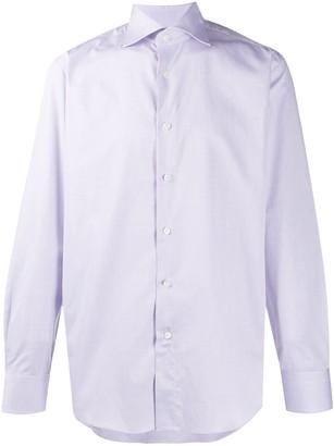 Canali Plain Long-Sleeved Shirt