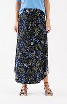 J. Jill Curved-Hem Floral Knit Maxi Skirt