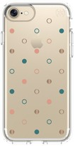 Speck Presidio Clear & Print iPhone 7 Case - Disco Dots Gold/Clear