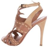 Alaia Caged Leather Sandals