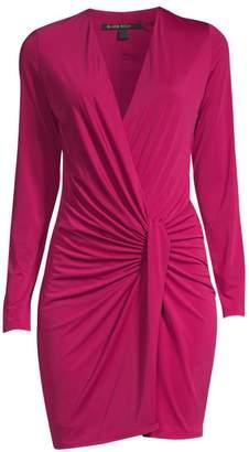 Black Halo Laura Faux-Wrap Mini Dress