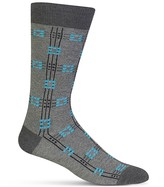 Hot Sox Plaid Grid Socks