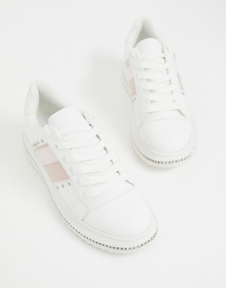 ASOS DESIGN Dote chunky trainers with studs in white