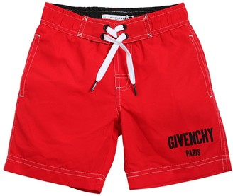 Givenchy Logo Printed Nylon Swim Shorts