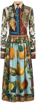 Dolce & Gabbana Autumn Print Midi Shirt Dress