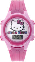 Disney Hello Kitty Kids Pink Plastic Strap Digital Watch
