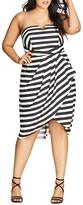 City Chic Fair Lady Stripe Dress