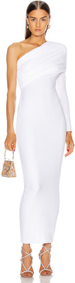 Alexandre Vauthier Ruched One Shoulder Gown in White | FWRD
