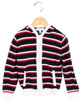 Rachel Riley Girls' Striped Knit Jacket