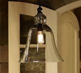 Pottery Barn Rustic Glass Indoor/Outdoor Pendant - Large