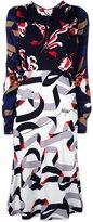 MSGM multi print dress - women - Polyester/Viscose - 44