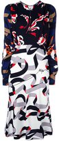MSGM multi print dress - women - Viscose/Polyester - 44