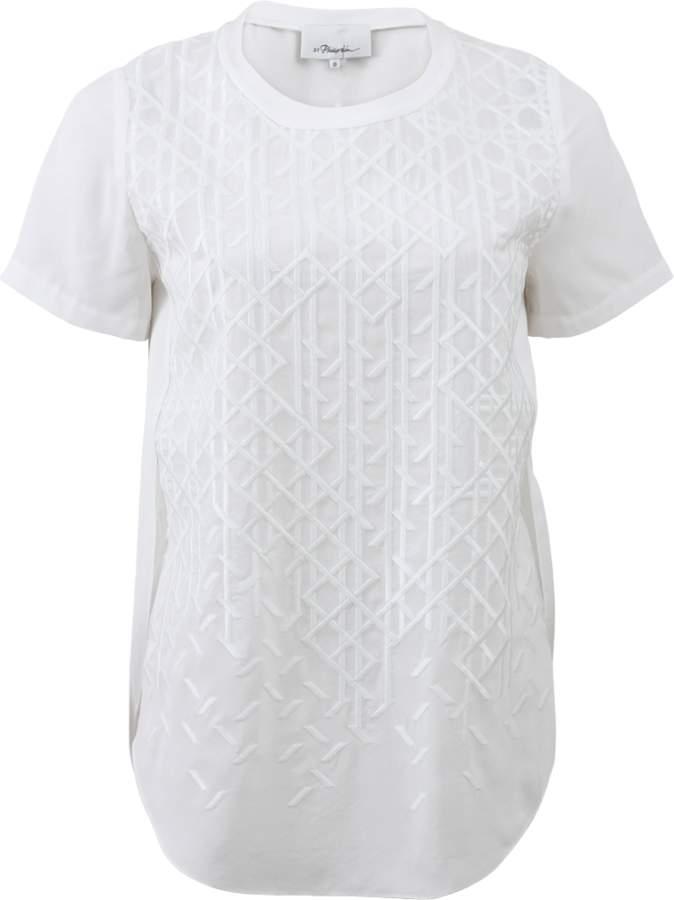 3.1 Phillip Lim Overlap Side Seam T-Shirt
