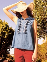 White Stuff Taylor tassel denim vest