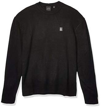 Armani Exchange A|X Men's Crew Neck Pullover with Abstract Logo