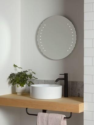 John Lewis & Partners Pixel Wall Mounted Illuminated Bathroom Mirror, Round