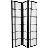 Oriental Furniture Elegant Simple Beautiful Premium Quality, 6-Feet Double Cross Folding Shoji Privacy Floor Screen Room Divider