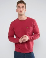 Lyle & Scott Garment Dye Sweatshirt Red