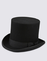 M&S Collection Pure Wool Top Hat