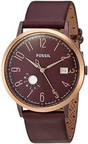 Fossil Women's Quartz Stainless Steel and Leather Casual Watch, Color:Red (Model: ES4108)