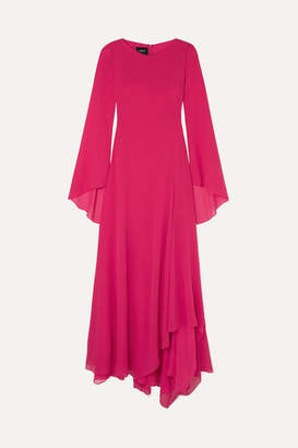 Akris Silk-georgette Gown - Pink