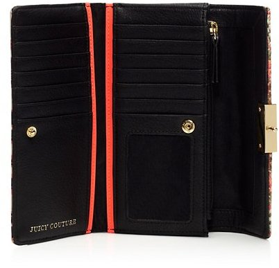 Juicy Couture Rosewood Mixed Media Continental Wallet