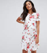 Asos Tall Swing Dress In Floral Print
