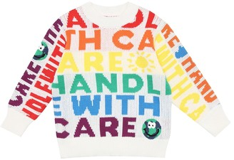 Stella McCartney Kids Printed cotton and wool sweater