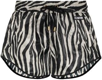 P.E Nation Rematch zebra-print shorts