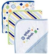Luvable Friends 3-Pack Embroidered Sayings Hooded Towels - Blue by