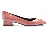 Bottega Veneta Cherbourg intrecciato leather low-heel pumps