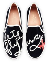 "Kate Spade Stefy ""Let's Fly Away"" Suede Skate Sneaker, Navy"