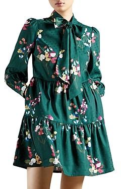 Ted Baker Alinaa Peppermint Long Sleeve Mini Dress