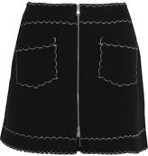 McQ by Alexander McQueen Stretch-knit Mini Skirt - Black
