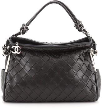 Chanel Ultimate Soft Hobo Sombrero Woven Leather