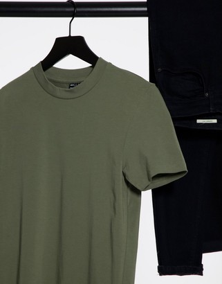 ASOS DESIGN organic muscle fit T-shirt in washed black