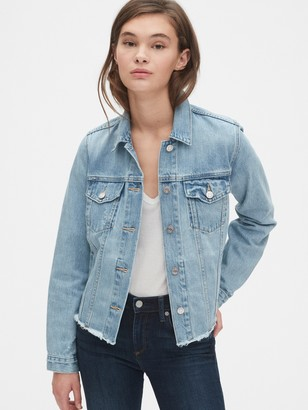 Gap Distressed Icon Denim Jacket