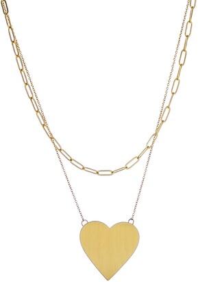 Panacea Heart Layered Pendant Necklace