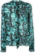 Just Cavalli Western print shirt - women - Silk/Polyester/Spandex/Elastane - 38